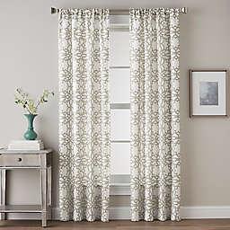 Lotus Harmony Tailored 84-Inch Rod Pocket Window Curtain Panel in Linen