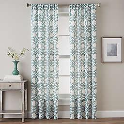 Lotus Harmony Tailored Rod Pocket Window Curtain Panel