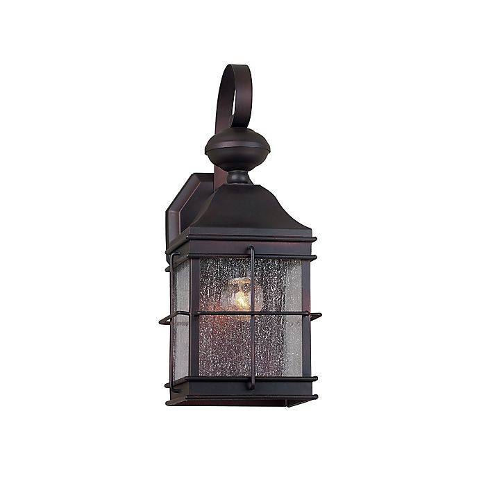 Alternate image 1 for Filament Design 1-Light Small Antique Outdoor Wall Lantern in Antique Bronze