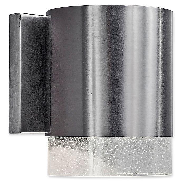 Alternate image 1 for Filament Design 1-Light Dark Sky Outdoor Wall Lantern in Brush Nickel