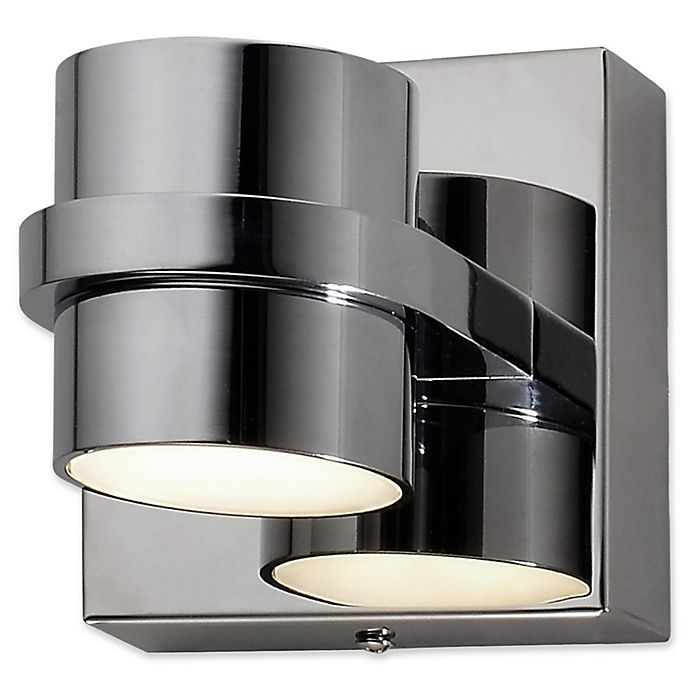 Alternate image 1 for Rogue Decor Company Twocan 2-Light Vanity Light in Polished Chrome