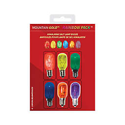Mountain Gold™ Rainbow Pack™ 6-Pack Himalayan Salt Lamp Light Bulbs