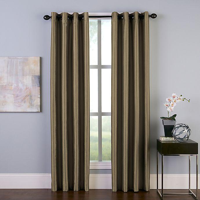 Alternate image 1 for Malta 95-Inch Grommet Room Darkening Window Curtain Panel in Bronze