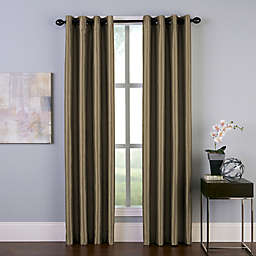 Malta 132-Inch Grommet Room Darkening Window Curtain Panel in Bronze