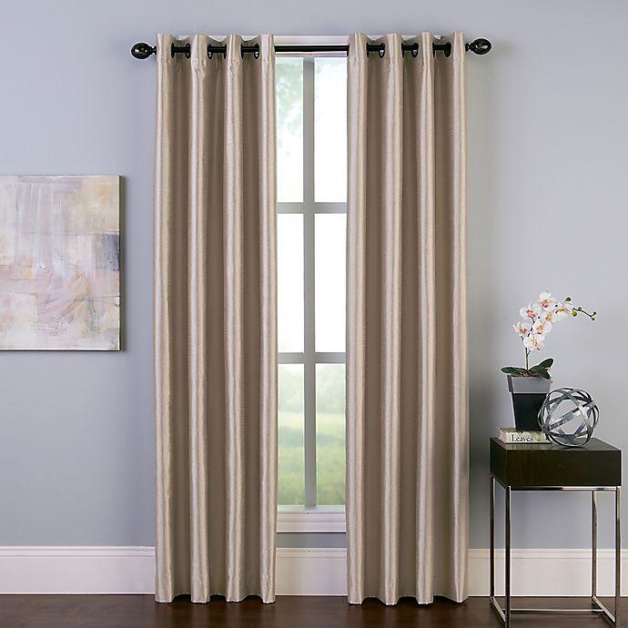 Alternate image 1 for Malta 108-Inch Grommet Room Darkening Window Curtain Panel in Sand