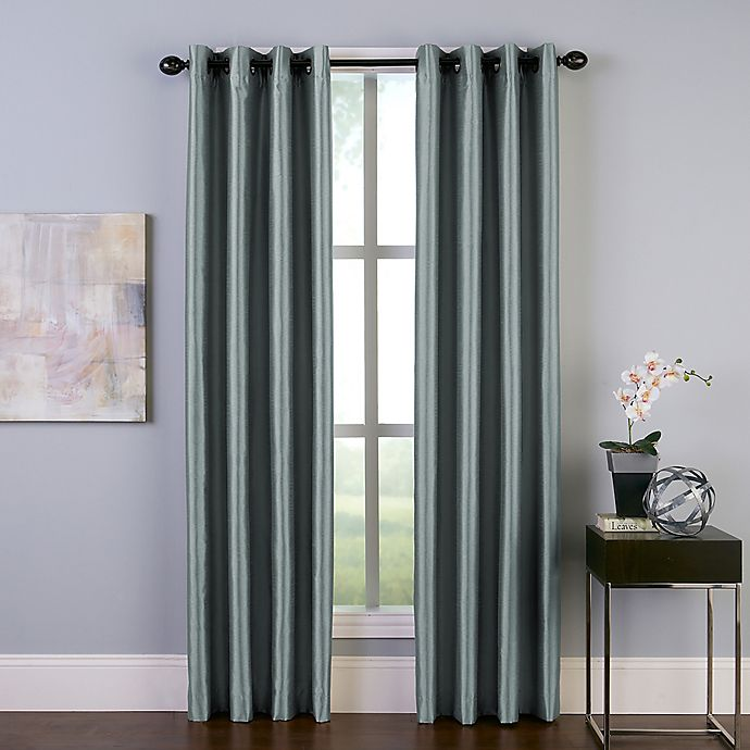 Alternate image 1 for Malta 108-Inch Grommet  Room Darkening Window Curtain Panel in Teal
