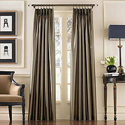 Marquee 132-Inch Rod Pocket Window Curtain Panel in Bronze