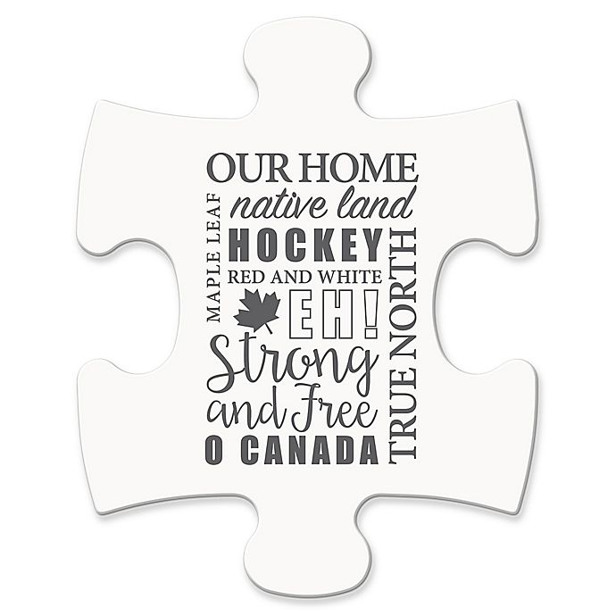 Alternate image 1 for Wallverbs™ Mix & Match Puzzle Frame Canada Sentiment Piece