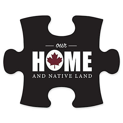 "Wallverbs™ Mix & Match Puzzle Frame ""Our Home and Native Land"" Piece"