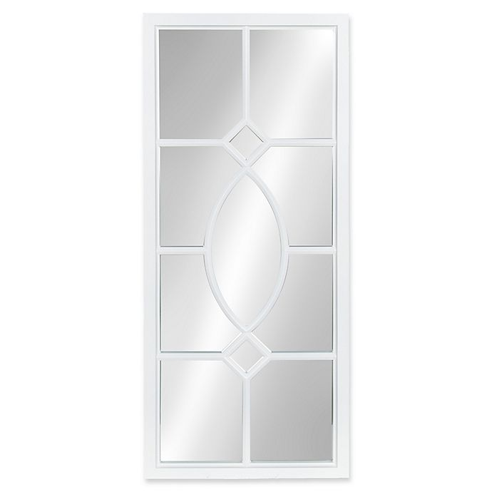 Alternate image 1 for Kate and Laurel Cassat 13-Inch x 30-Inch Wall Panel Mirror in White