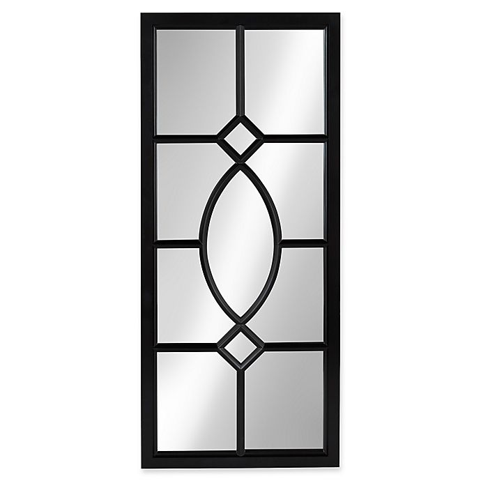 Alternate image 1 for Kate and Laurel Cassat 13-Inch x 30-Inch Wall Panel Mirror in Black