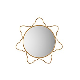 Madison Park Sienna Round Wall Mirror in Gold