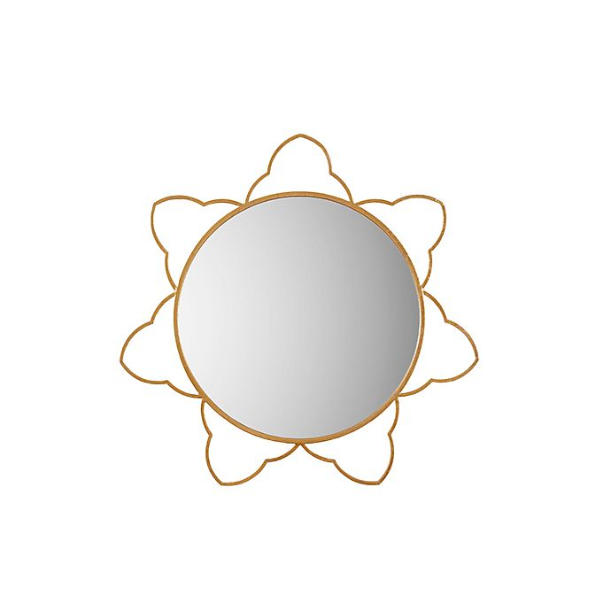 Alternate image 1 for Madison Park Sienna Round Wall Mirror in Gold
