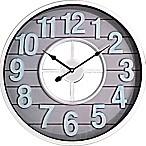 Shiplap Wall Clock in White