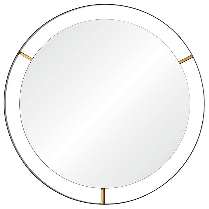Alternate image 1 for Rogue Décor Framed 20-Inch Round Mirror in Matte Black