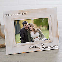You're My Favorite Engraved Picture Frame in White Wash