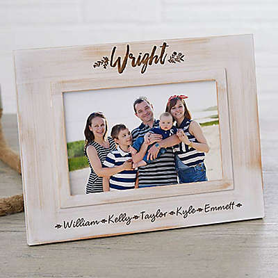 Family Farmhouse Picture Frame in White Wash