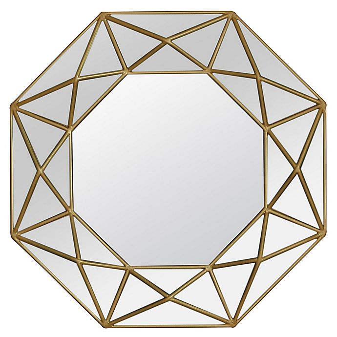 Alternate image 1 for Veraluz Casa Geo Painted 31.5-Inch Octagonal Wall Mirror in Gold