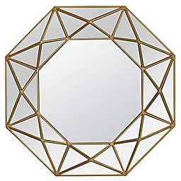 Veraluz Casa Geo Painted 31.5-Inch Octagonal Wall Mirror in Gold