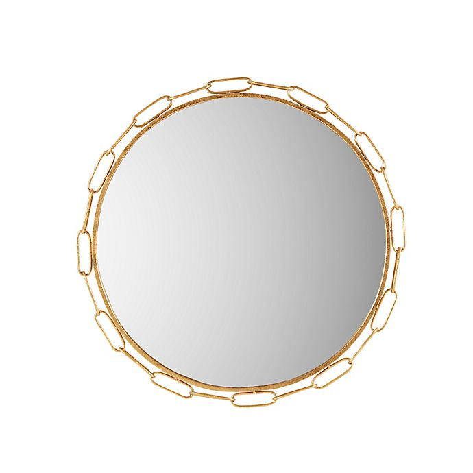 Alternate image 1 for Madison Park Signature Chainlink 38.5-Inch Round Wall Mirror in Gold