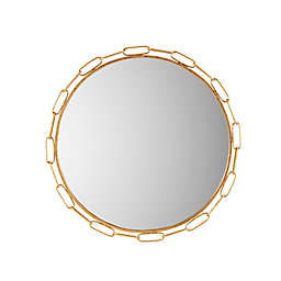 Madison Park Signature Chainlink 38.5-Inch Round Wall Mirror in Gold