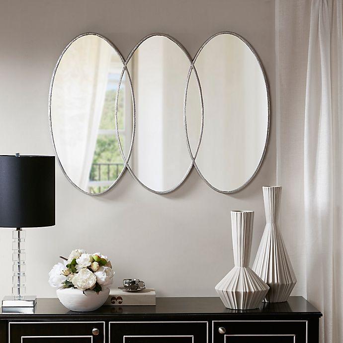 Alternate image 1 for Madison Park Signature Eclipse 30-Inch x 40-Inch Wall Mirror in Antique Silver