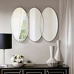 Madison Park Signature Eclipse 30-Inch x 40-Inch Wall Mirror in Antique Silver