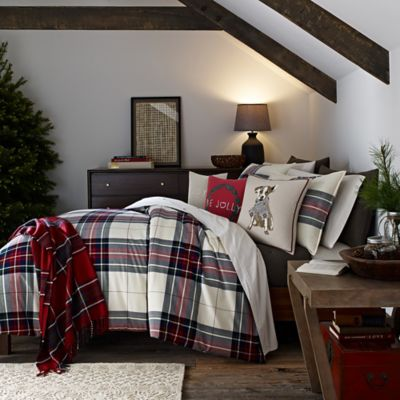Ed Ellen Degeneres Tartan Plaid Duvet Cover Bed Bath