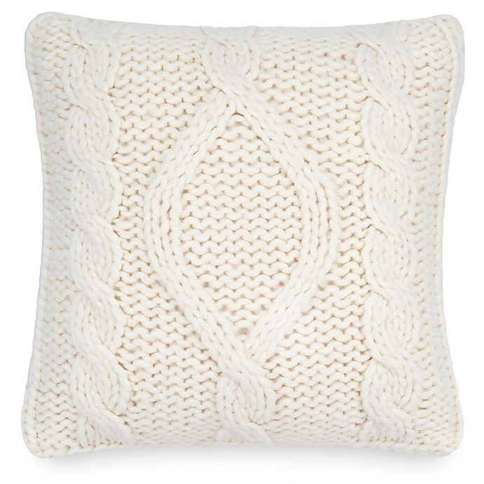 Alternate image 1 for UGG® Chunky Cable Knit Square Throw Pillow in Natural