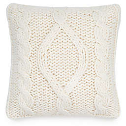 UGG® Chunky Cable Knit Square Throw Pillow in Natural