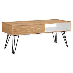 Linon Home Perry Coffee Table in Natural