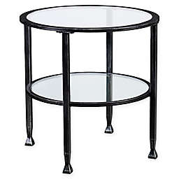 Southern Enterprises Jaymes Round End Table in Black