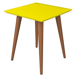 Manhattan Comfort Utopia Square End Table in Yellow