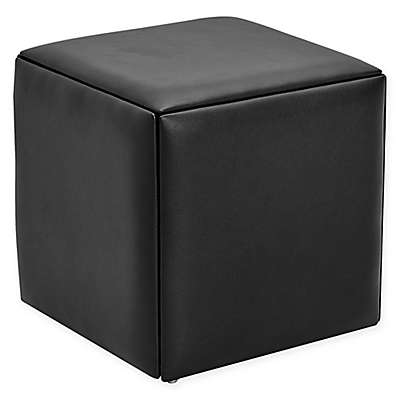 Modern Sensibility Ottoman with Stools in Black