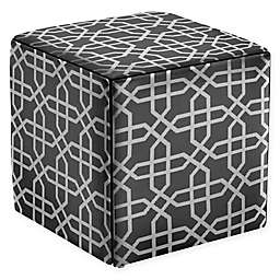 Modern Sensibility Ottoman with Stools in White