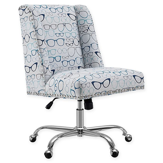 Peachy Linon Home Dobby Glasses Office Chair Bed Bath Beyond Interior Design Ideas Tzicisoteloinfo