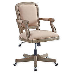 Linon Maybell Office Chair in Natural