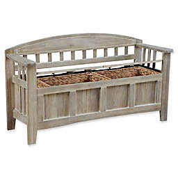 Linon Home Aria Storage Bench in Natural