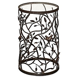 Linon Home Bird and Branch Accent Table in Brown