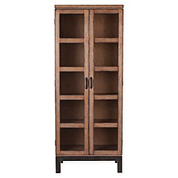 Southern Enterprises Captina Curio Storage and Display Cabinet in Brown