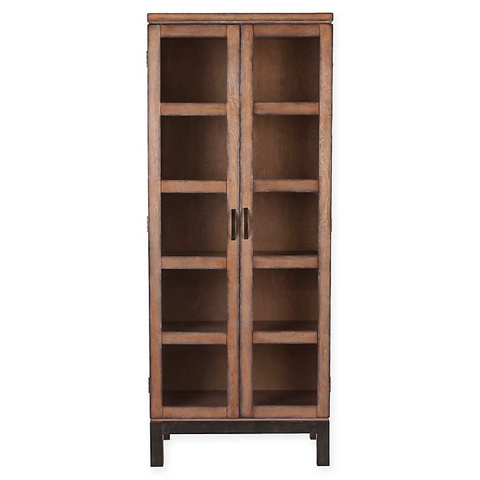 Alternate image 1 for Southern Enterprises Captina Curio Storage and Display Cabinet in Brown