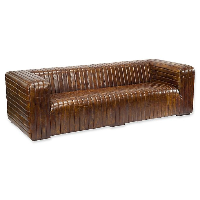Alternate image 1 for Moe's Home Collection Castle Sofa in Dark Brown