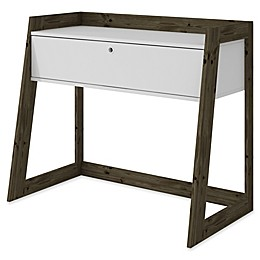 Manhattan Comfort Salvador Entryway Table in White/Oak
