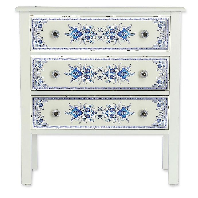 Alternate image 1 for River of Goods French Countryside 3-Drawer Cabinet in Blue/White