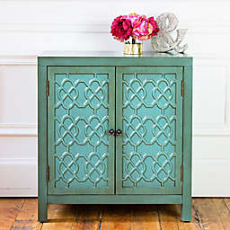 River of Goods Antiqued 2-Door Cabinet in Teal