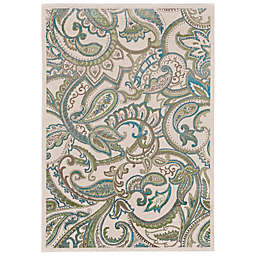 Feizy Burley Paisley Rug in Blue/Tan