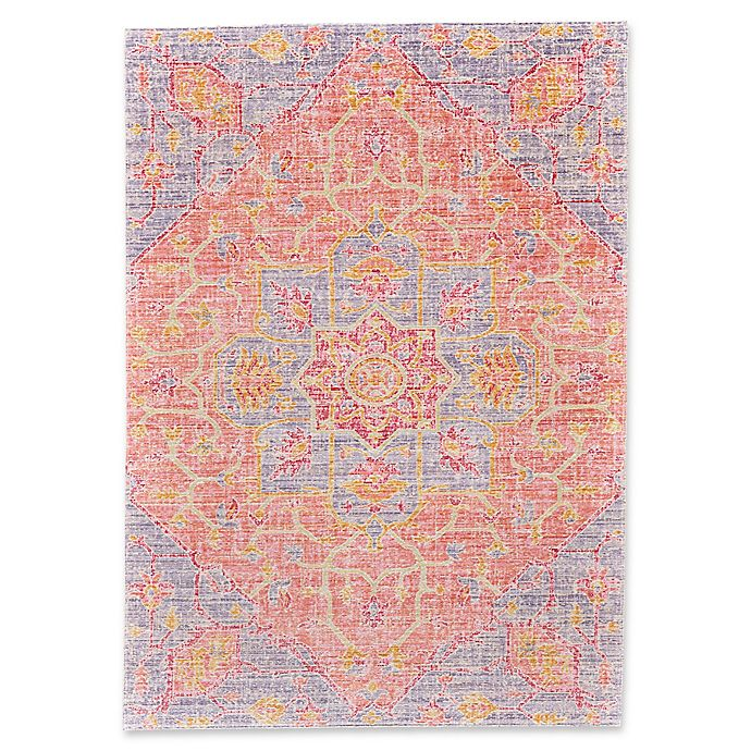 Alternate image 1 for Feizy Hilltop 5-Foot x 8-Foot Area Rug in Blush