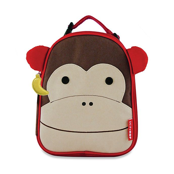 Alternate image 1 for SKIP*HOP® Zoo Lunchies Insulated Lunch Bag in Monkey