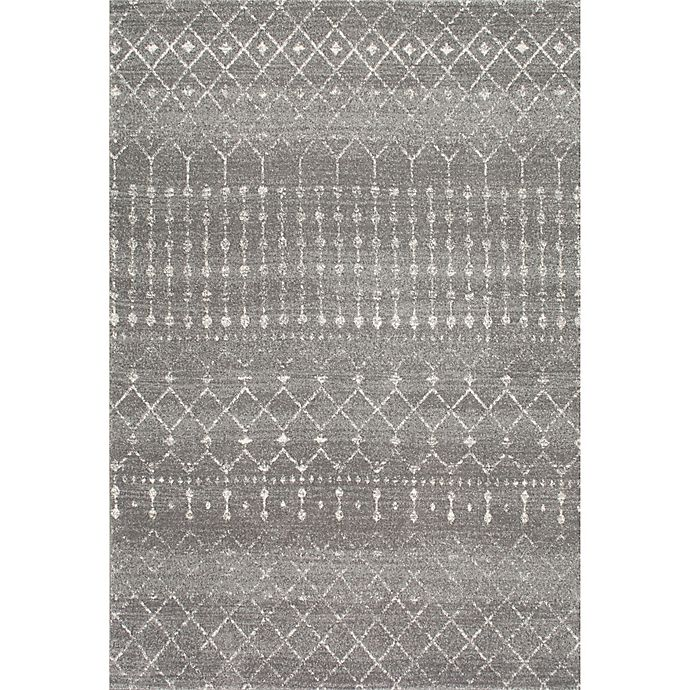 Alternate image 1 for nuLOOM Blythe 2-Foot 8-Inch x 8-Foot Runner in Dark Grey