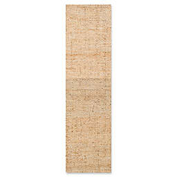 nuLOOM Hand Woven Hailey Jute 2-Foot 6-Inch x 12-Foot Runner in Natural